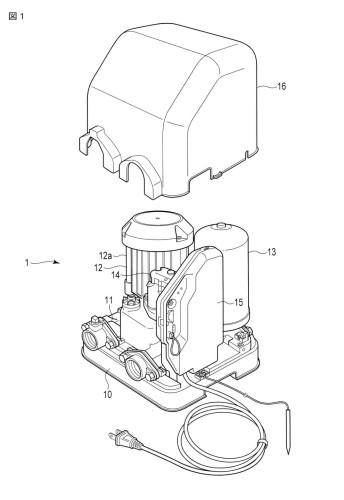 図1 本発明の第1の実施形態に係る給水装置の構成を示す斜視図。