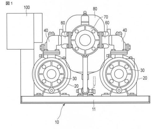 【図1】本発明の一実施の形態に係る給水装置を示す正面図。