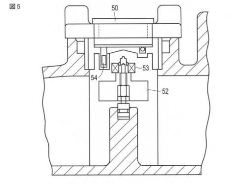 【図5】同連結管に組み込まれた流量検出部を示す縦断面図。